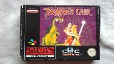 Dragons Lair NINTENDO Snes 1992 by Elite Games BOXED No Manual RARE RETRO GC