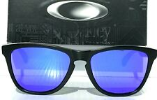 NEW* Oakley Frogskins BLACK Matte w POLARIZED Galaxy VIOLET Sunglass oo9013