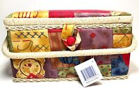 Allary 12x7x Inch Hand Crafted Sewing Basket, Multicolor Sewing Crafts