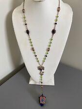 "Betsey Johnson Mouse Light  ""Y""  Pendant Necklace. Beautiful Colors."
