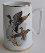 1985 John James Audubon Porcelains Mallard Ducks ~ Coffee Cup Mug Tankard Stein