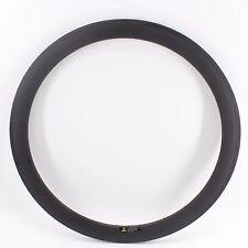 700C 50mm Road bike matt UD carbon bicycle wheels clincher rims basalt 24 holes