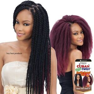 Freetress Equal Synthetic Afro Hair Extension CUBAN TWIST BRAIDS 12, 16, 24 inch