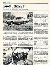 1978 Toyota Celica ST Original Car Review Print Article J645