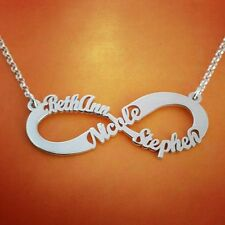 Infinity Necklace, Personalised Jewellery, ORDER ANY 3 NAMES! sterling silver