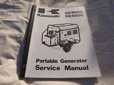 Kawasaki GE4000, GE4500 Portable Generator Service Manual  P/N 99924-2022