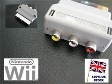 Genuine OFFICIAL Nintendo Wii AV TV Composite Scart Adapter Block