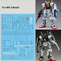 DIY Water Decals Stickers for Bandai RG  1/144 RX-178 Gundam MK II AEUG Model BM