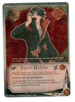 Naruto Card Game Itachi Uchiha N-203 Gold Foil Super Rare Card--Free shipping--