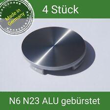N6 / N23 + Alu Emblem gebürstet  Nabenkappen 60 mm Rial Alutec ATS  4 St.