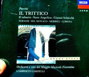 Puccini - IL Trittico, Tebaldi, Del Monaco, Merrill, Corena  - CD, VG