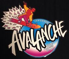 1997 Avalanche Blue Peppermint Schnopps Embossed Metal Sign