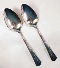 2 Rosalie Silverplate Tablespoons Wm A Rogers A1 Plus Oneida Ltd Vintage 1938