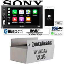 Radio Sony Bluetooth | DAB+ | Apple CarPlay | TFT USB Einbauset für Hyundai ix35
