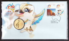 2010 SHANGHAI WORLD EXPO STAMP FIRST DAY COVER PERTH MINT $1 COIN PNC