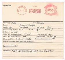 Ettlingen Baden 1928 Spinnerei  AFS Archivkarte Unikat