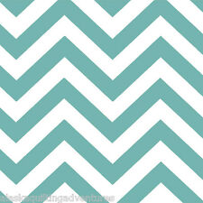 MODA Fabric ~ HALF MOON MODERN ZIG ZAG ~  (32216 35) Aqua - by 1/2 yard