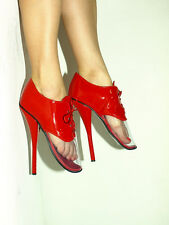 """BLACK OR RED PATENT LEATHER BALLET PUMPS SIZE 6-16 HEELS-8,5""""- PRODUCER- POLAND"""