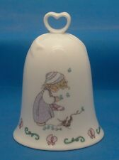 1995 Precious Moments Winters Song Collectible Porcelain Bell Butterflies