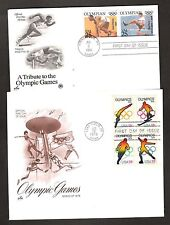 2 US FDCs OLYMPIC GAMES 1976 & 1990
