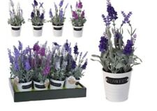 NEW Artificial Lavender In a Metal Pot - White Only