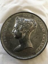 British Queen Victoria Coronation Medal 1837 Extremely Very Rare  62mm