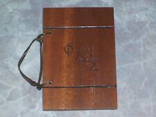 Phi Delta Sigma Wilberforce Spring Formal Small Wooden Cover Program Vtg 1940