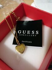 GUESS JEWELLERY GOLD PLATED HEART LOVE BRACELET CHAIN WITH BOX