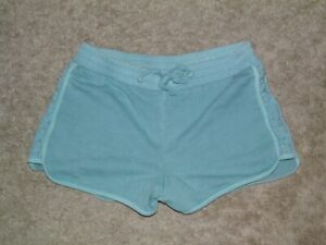 Girls JUSTICE Mint Green Flower Accent Shorts Size 14/16