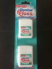 Pack Of 2 x 50M Claradent Dental Floss Wax Treated Mint Flavour Dental Care