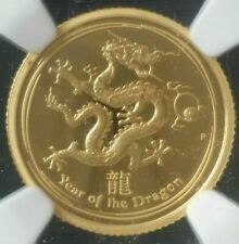 New Listing2012 P Proof $15 Australia 1/10oz Gold Lunar Year of the Dragon Ngc Pf70