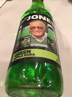 Stan Lee Jones Green Apple Soda 12oz glass sealed New