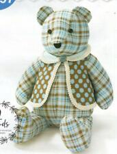 """18"""" Memory Teddy Bear with Vest Sewing Pattern McCalls It's Sew Simple L9547"""