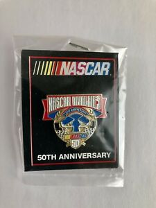NEW OLD STOCK 1998 NASCAR RIVALRIES 50th ANNIVERSARY LAPEL HAT PIN  COLLECTIBLE