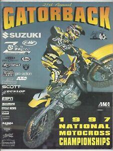 Vintage Gatorback Nationals 1997 AMA Motocross Program Jeremy McGrath Suzuki