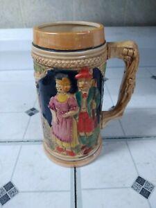 Vintage Ceramic Handcrafted Beer Stein ~ Made in Japan ~ German Style