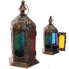 Stehend Mehrfarbig Glas Marokkanische Laterne Teelicht Kerzenhalter Laternen