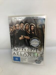 STARGATE ATLANTIS Season Five DVD Region 4 TV Show Very Good Condition Sci Fi