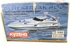 "2000 Kyosho Bluestreak 800 Racing R/C Radio Controlled Boat 36.6"" V-Bottom Hull"