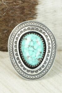 Turquoise & Sterling Silver Ring - Calvin Martinez - 8
