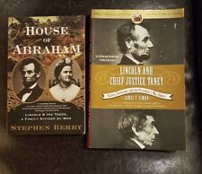Abraham Lincoln Abe, 2 book lot History Biography FREE SHIPPING