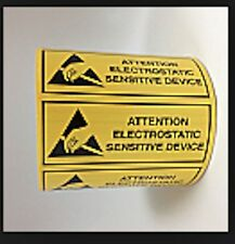 ESD 2x5/8 ATTENTION Electrostatic Sensitive Devices Static Warning 500 Labels