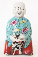 China Porzellanfigur 18. Jahrh. laughing boy porcelain 18th century 18cm