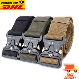 Herren Armee Militär Taktischer Gürtel Tactical Belt Nylon Metallschnall