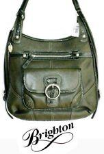 Brighton Andorra Olive Green Leather Handbag/ Backpack Straps Shoulder H33411