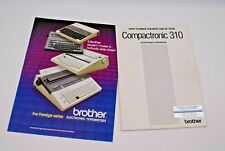 VINTAGE BROTHER COMPACTRONIC 310 ELECTRONIC TYPEWRITER INSTRUCTION MANUAL PLUS