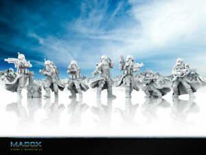 Star Wars Legion - Snow Trooper Squad (7) 3D Resin Printed Unit