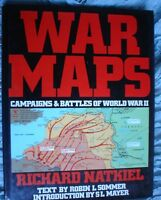 BOOK  MILITARY ARMY WAR WAR MAPS OF WORLD WAR 2 192 PAGES ILLUSTRATED SEE PICS
