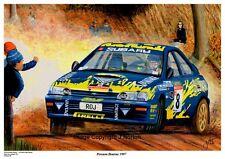 A3 Art Print-Possum Bourne-Subaru-Rally Nueva Zelanda 1997