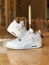 Nike Air Jordan 4 Retro Pure Money 2017 Style 308497-100 Size 10 White Leather